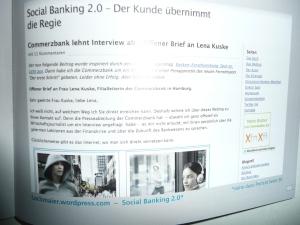 """Mein """"Offener Brief an die Commerzbank"""" wurde viele Tausende Mal angeklickt: Denn er zeigt die große Kluft zwischen Anspruch und Wirklichkeit in der hierarchischen Bankenwelt"""
